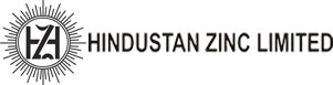 Picture shows the company logo of Hindustan Zinc Limited in black and white. The letters H and Z are depicted inside the Sun