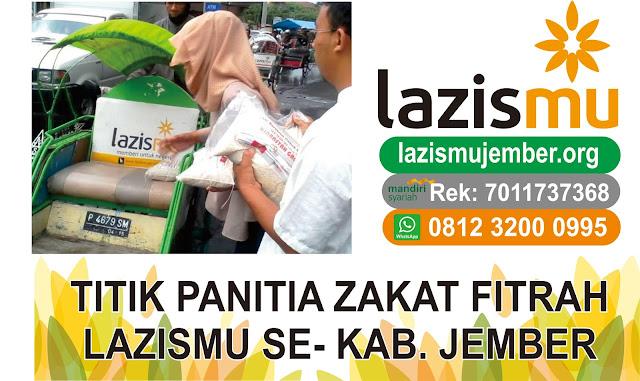 Panitia zakat fitrah ramadhan 1438 H se-Kab. Jember