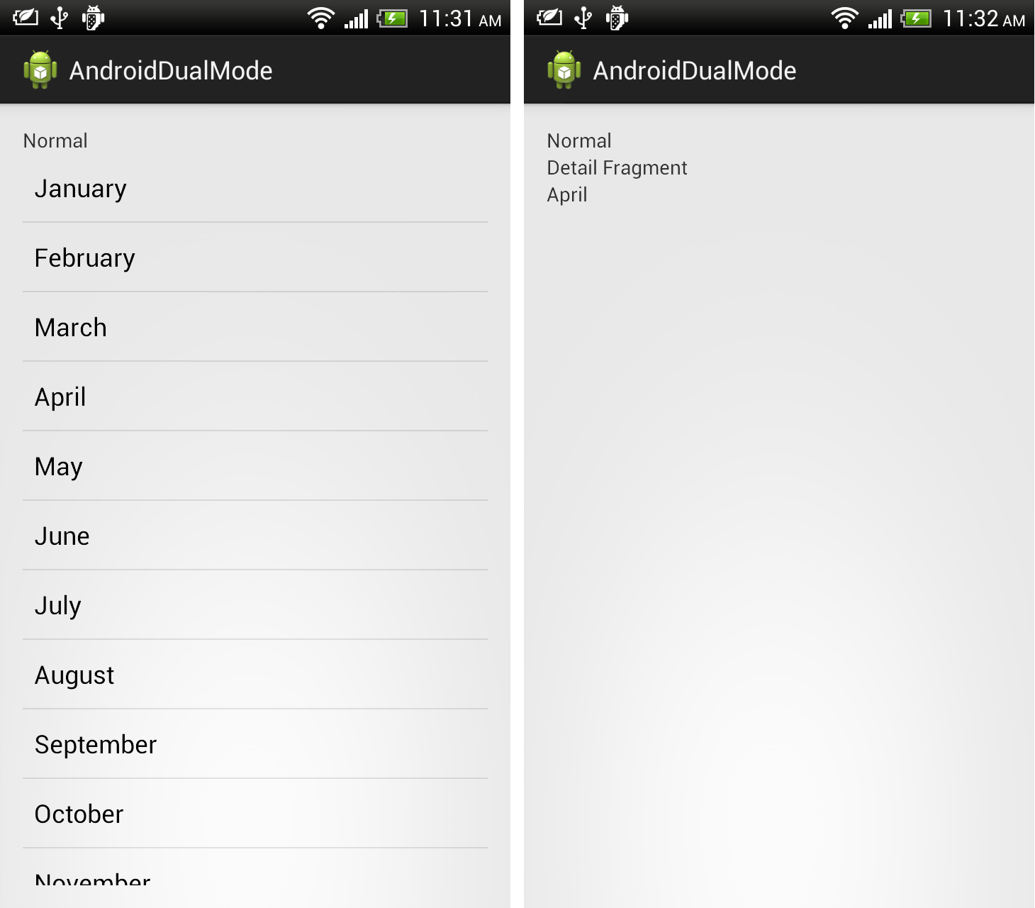 Android-er: Handle onListItemClick() of ListFragment, to pass data