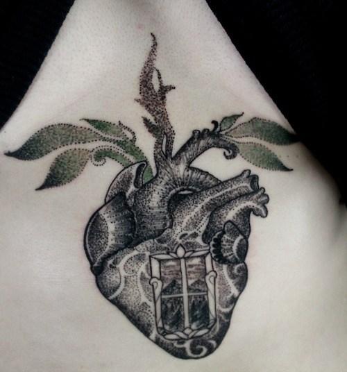 Heart Sternum Tattoos