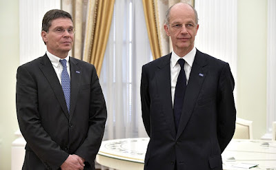 Kurt Bock, Hans-Ulrich Engel in the Kremlin.