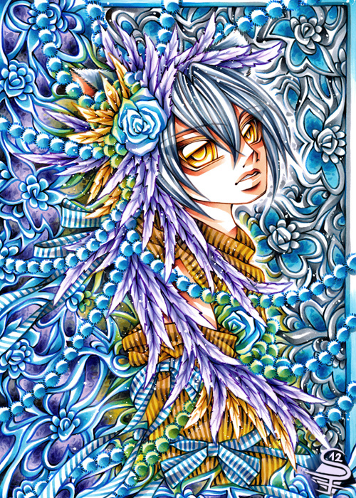 15-Vivid-Flower-Sandra-Filipova-DarkSena-Manga-Black-and-White-and-Colour-Detailed-Drawings-www-designstack-co