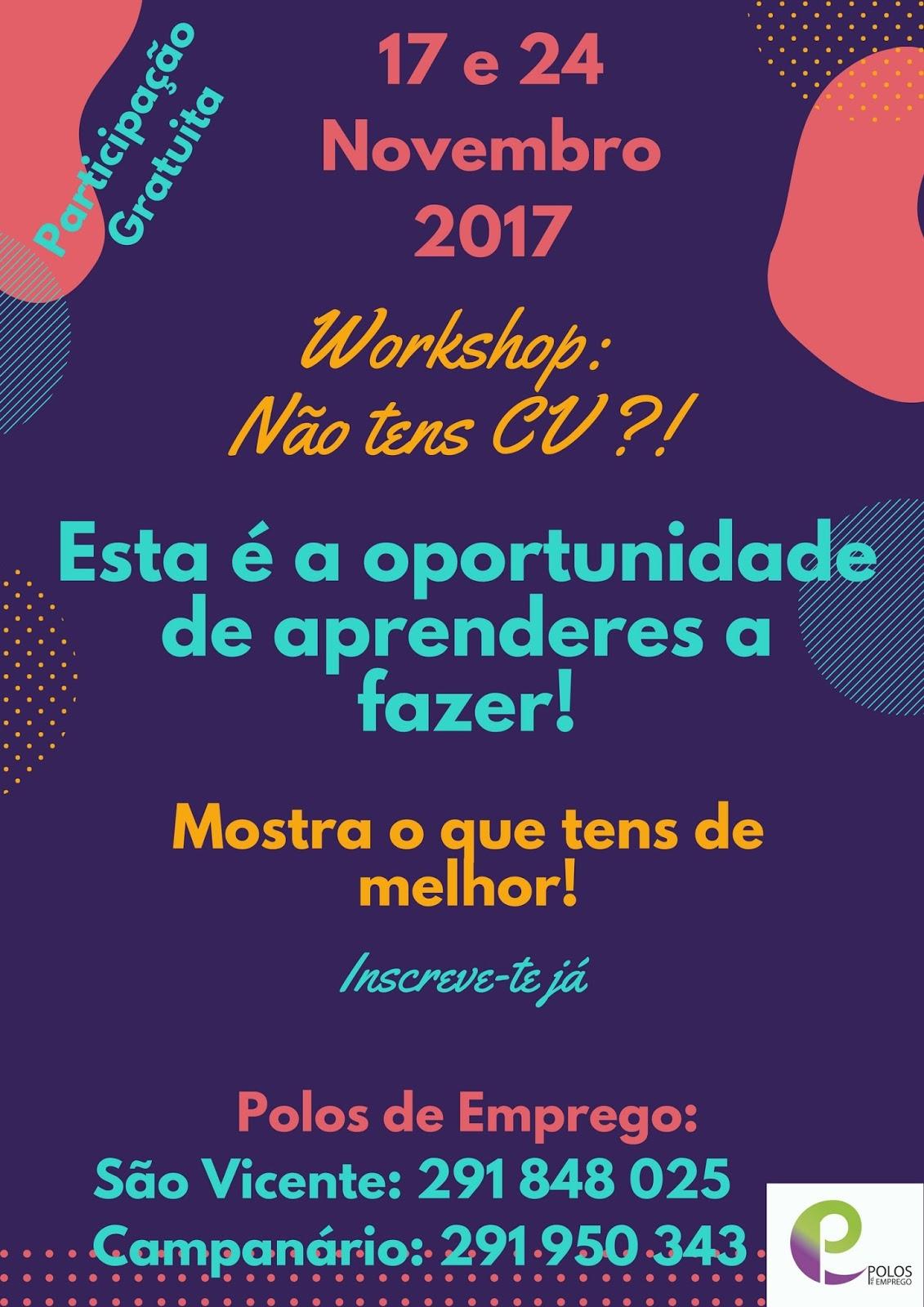 Workshop gratuito para aprender a fazer Curriculum Vitae – Madeira