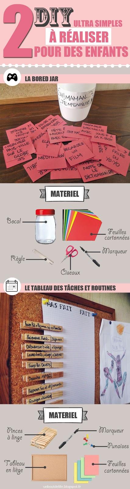 2 diy faciles Bored jar et Tableau des tâches et routines pour enfants - Un Bout de Life le blog