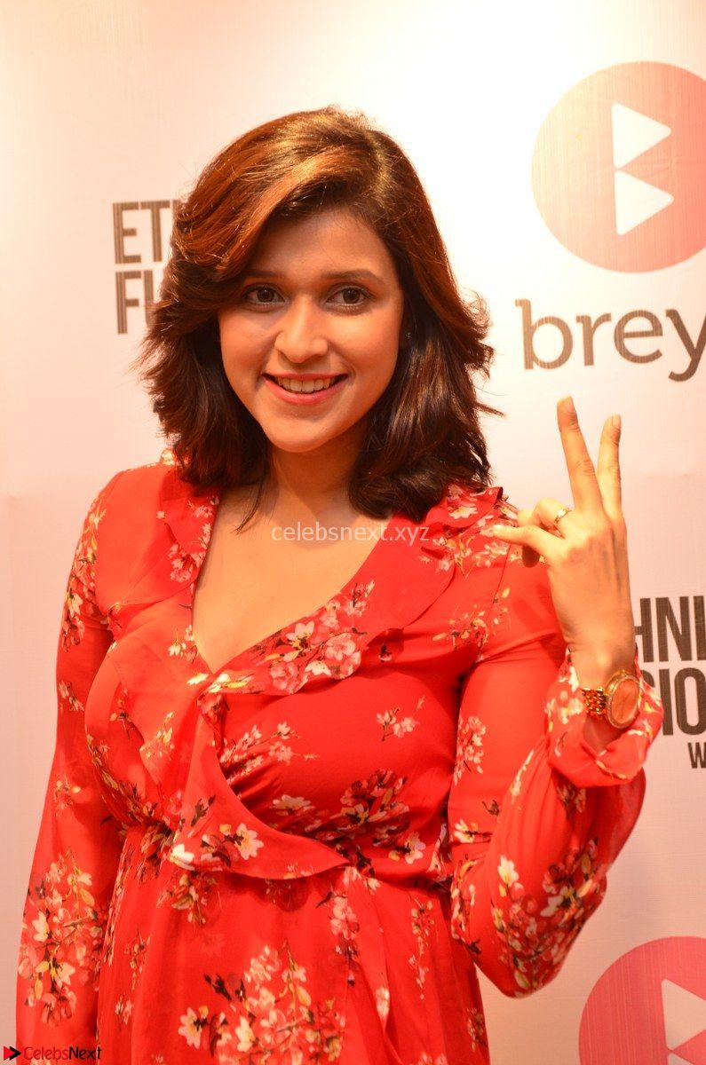 Mannara Chopra in deep neck Short red sleeveless dress Cute Beauty ~ CelebsNext Exclusive Celebrities Galleries