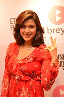 Mannara Chopra in deep neck Short red sleeveless dress Cute Beauty ~  Exclusive Celebrities Galleries 069.JPG