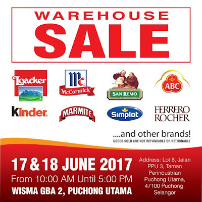Puchong Utama Wisma GBA Warehouse Sale June 2017