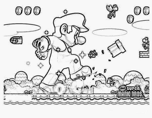 Free super mario bros coloring pages ~ Online Coloring Super Mario Bros Coloring Pages For Kids ...