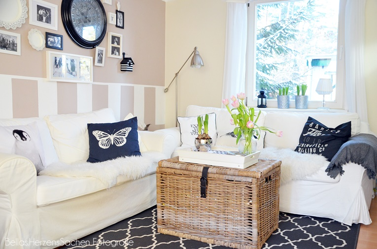 Wohnzimmer Deko und endlich Tulpen  BellasHerzensSachen