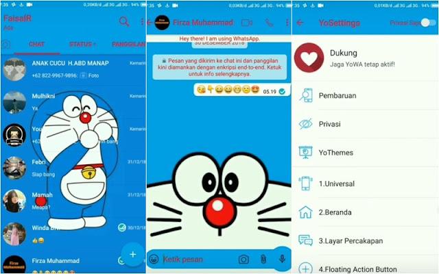 Mungkin tidak ada salahnya kalau kau mencoba tema Whatsapp Doraemon yang akan kami bagika Kumpulan Tema Whatsapp Doraemon Apk Terbaru dan Cara Memasangnya