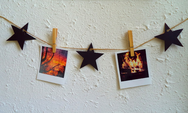 Polaroid Garland DIY Polaroid display