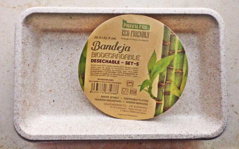 Bandejas descartáveis biodegradáveis