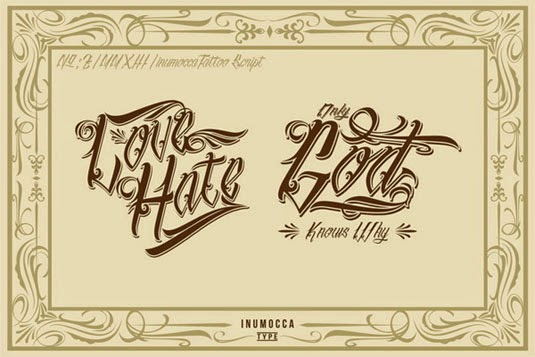 Inu 12 Best Tattoo Fonts For A Name