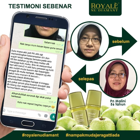 Testimoni Royale Nu Diamant Serum Plus+
