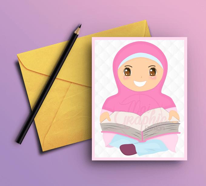 Design Doodle Kanak-kanak Bertudung