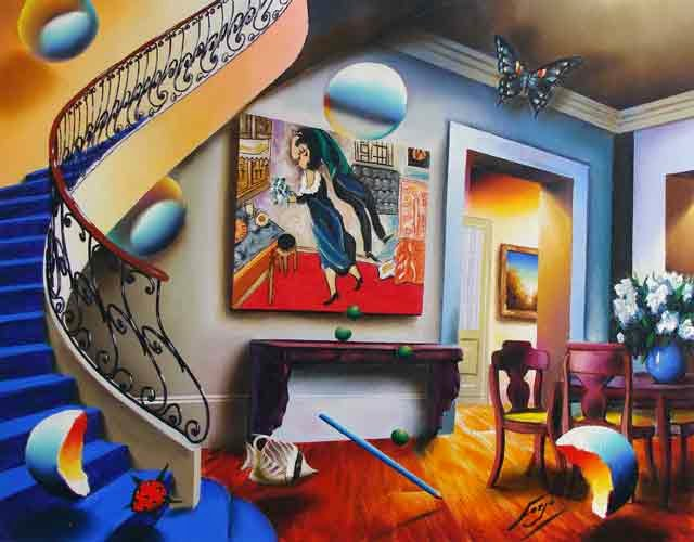 Jantar com Chagall - Ferjo e suas pinturas ~ O artista da pintura dentro de outra