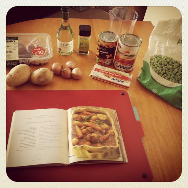 Springtime lamb stew recipe - ingredients