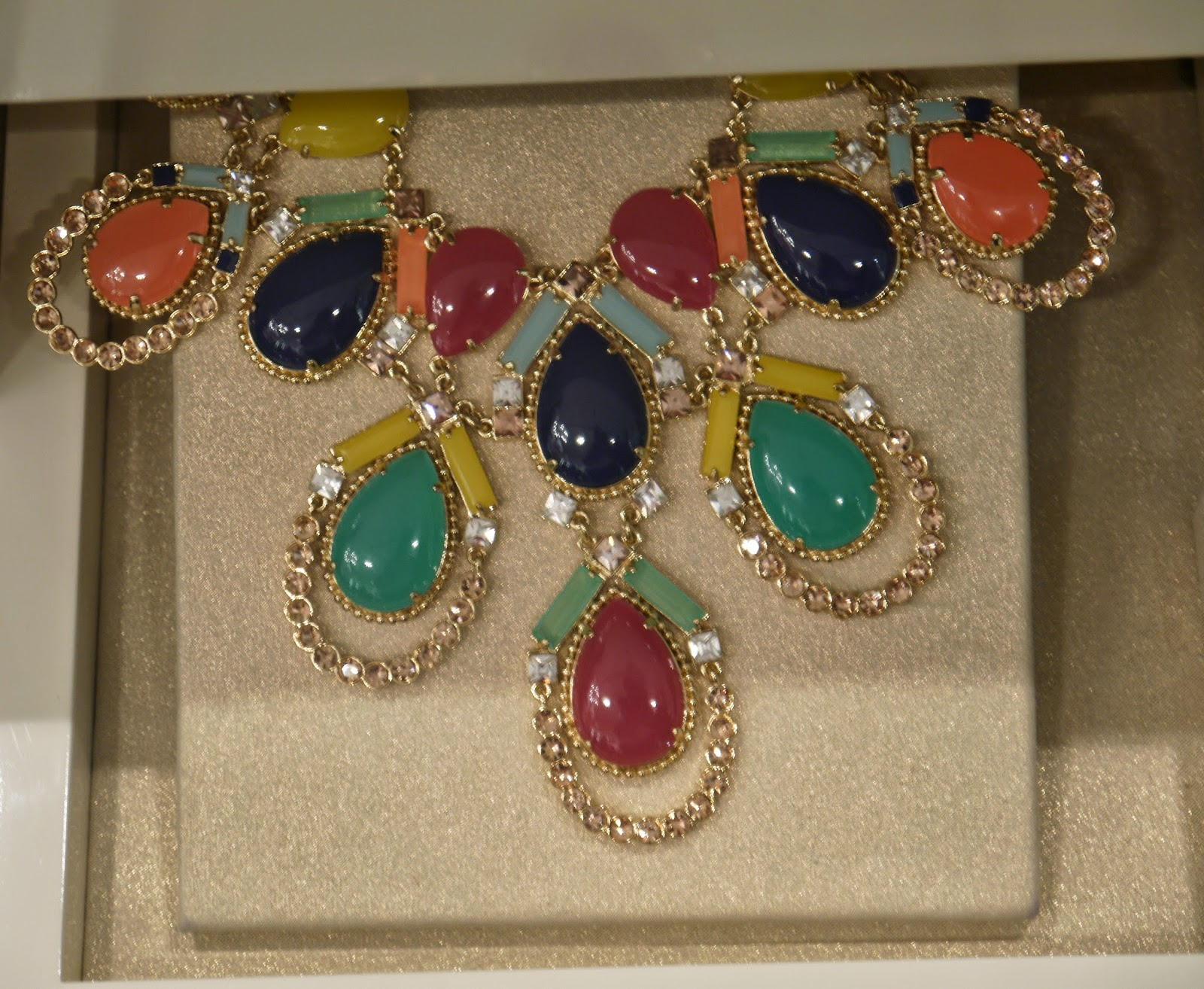 Petal Shape Colourful Kate Spade Statement Necklace