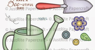 Scraps Of My Life Garden Tools Clear Stamp Set