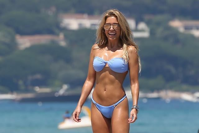 Sylvie Meis in bikini in St. Tropez
