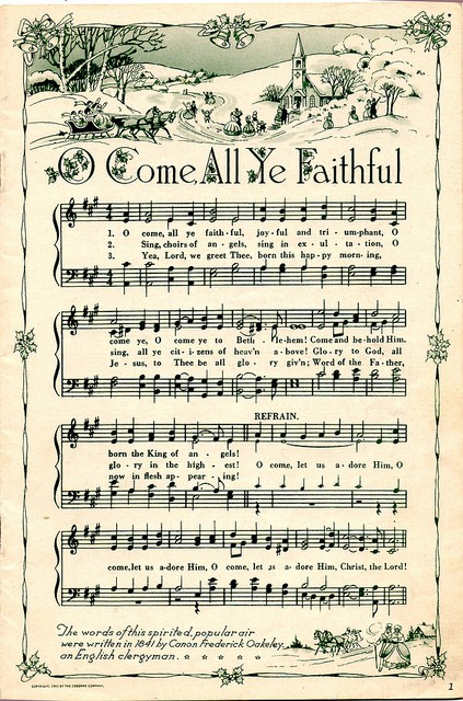 image about Free Printable Vintage Christmas Sheet Music titled Printable Common Xmas Songs Sheets and 6 Holiday vacation Assignments