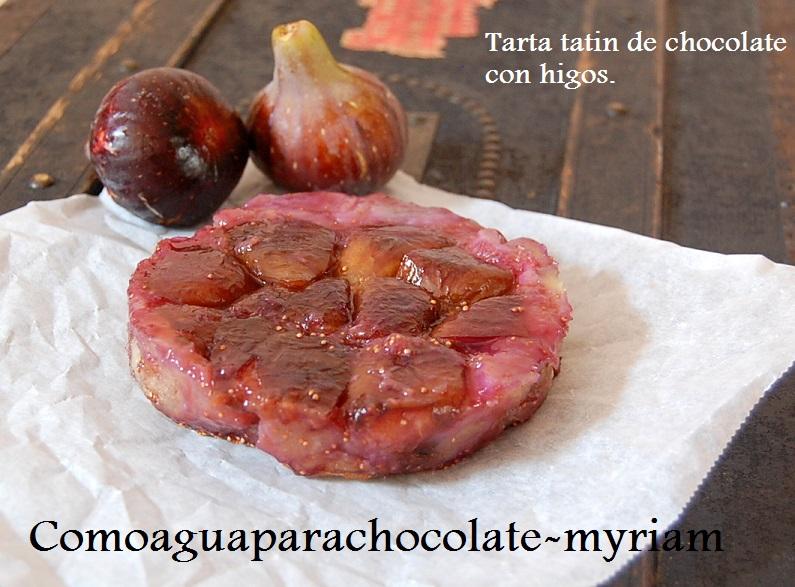 Tarta tatin de chocolate con higos