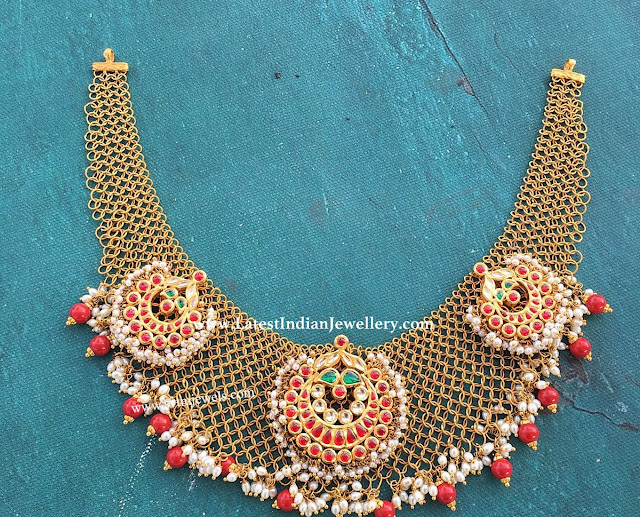 Coral Drops Kundan Necklace