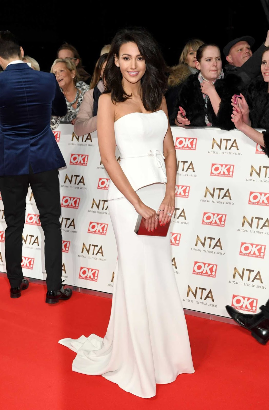 Michelle Keegan goes strapless for the National Television Awards 2017