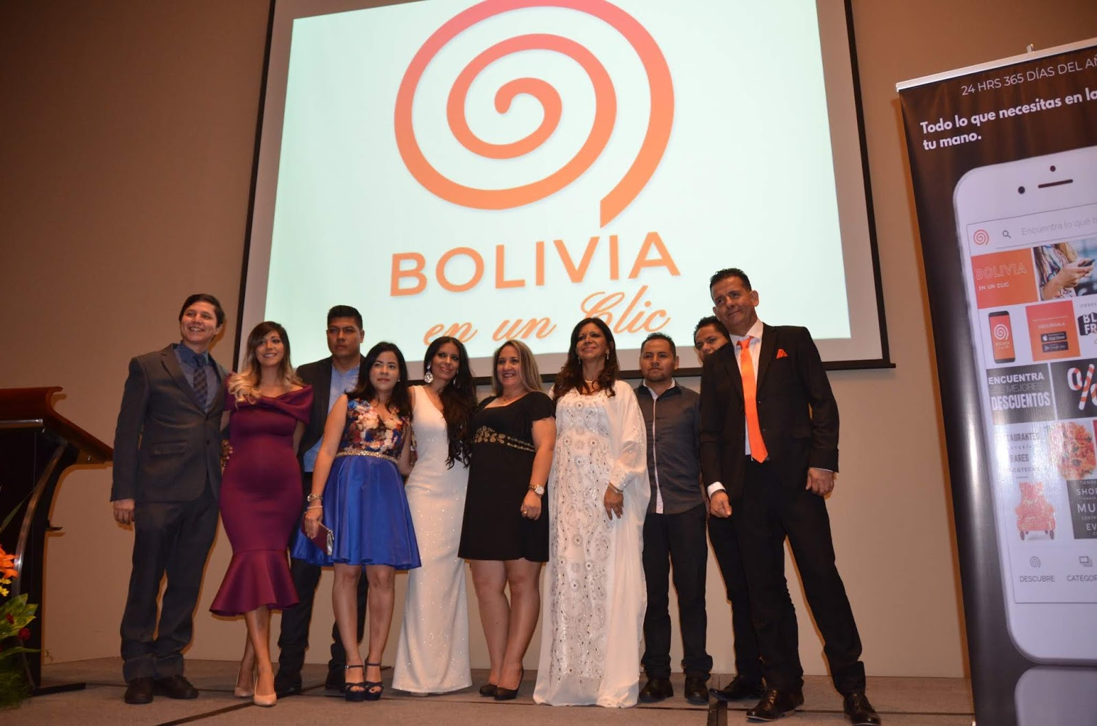 El equipo de emprendedores durante la presentación de la App en Santa Cruz / FACTUAL