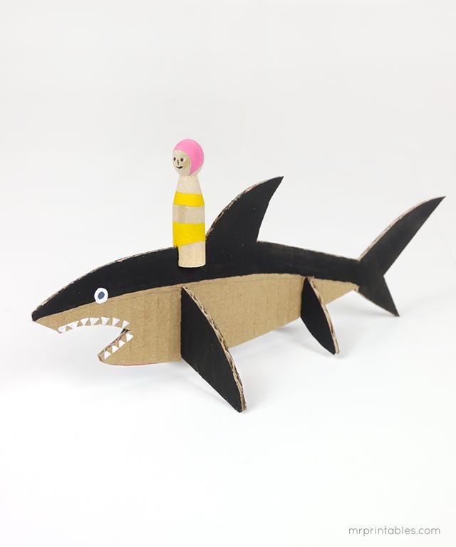 Decorar en familia: Animales marinos de cartón descargables11