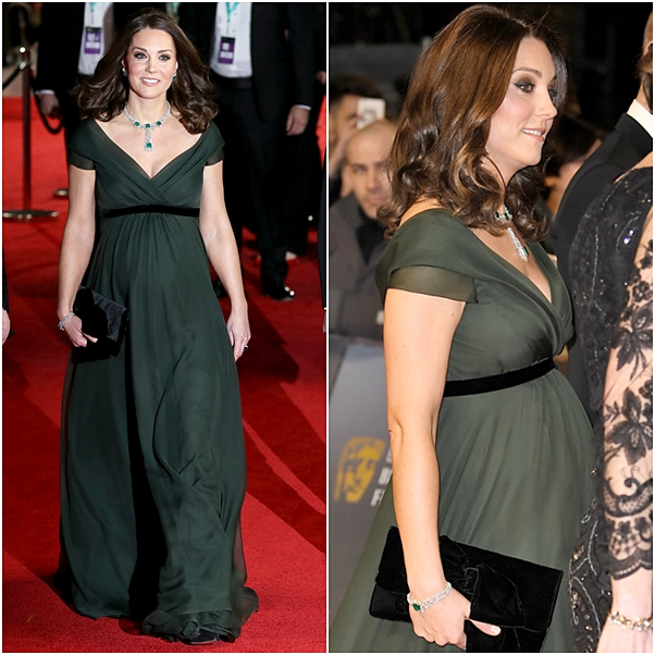 look bafta Kate Middleton