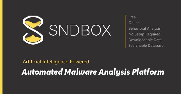 SNDBOX Plataforma de análisis de malware automatizado en línea impulsado por AI