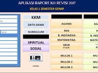 Unduh Aplikasi Raport K13 SD Revisi 2017 Kelas 1 Semester 2
