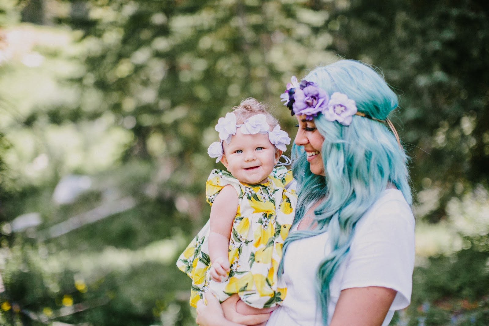 Headbands of Hope, Floral Crowns, Blue Hair