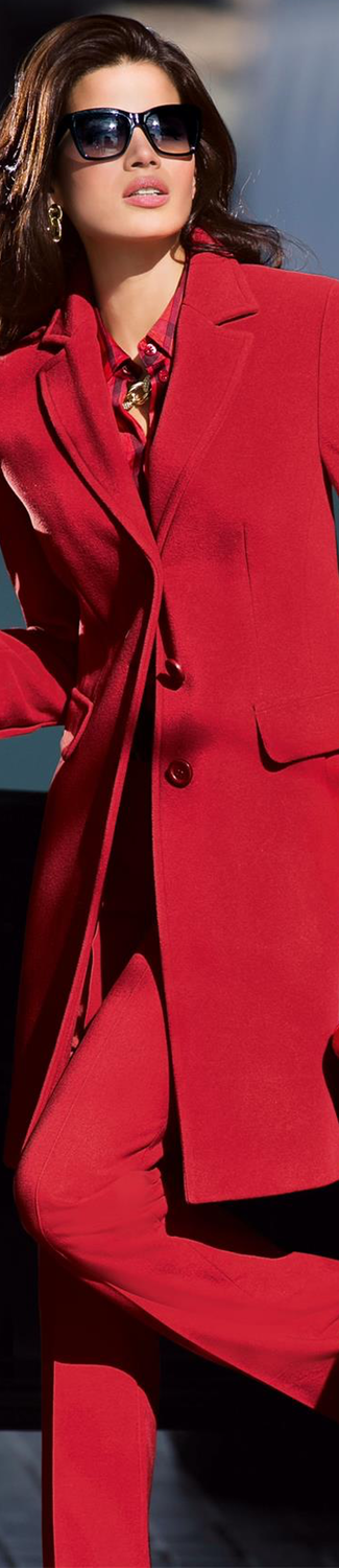 MADELEINE Red Coat and Trousers