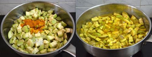 cooking brinjal