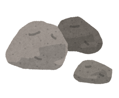 石・岩のイラスト