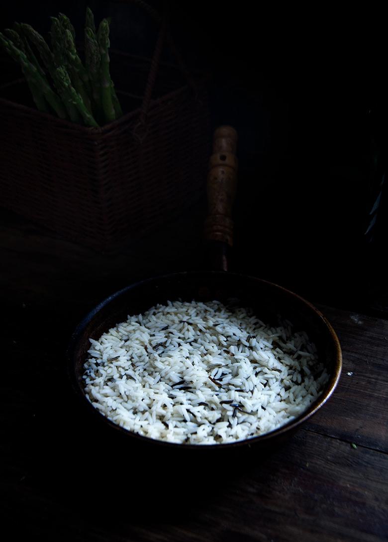 Arroz salvaje con verduras asadas r stica - Donde comprar arroz salvaje ...
