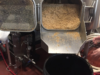 spent grain in a mash tun beer