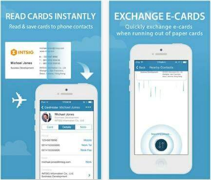 Best free business card scanner apps for android best business cards app app for mobile reheart Gallery