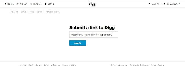 Cara Submit Link Artikel ke Direktori Digg Dengan Mudah