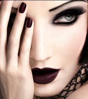 Moderno, punk e gótica...Maquilhagem,Moda maquilhagem