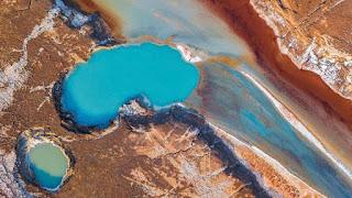 esempio di depressione terrestre nel mar caspio