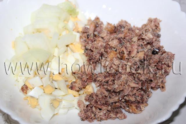 рецепт вкусного рыбного салата с пошаговыми фото