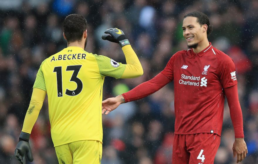 Van-Dijk-and-Alisson-celebrate-at-end-of-game