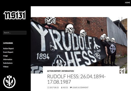 NS131 - Neo-nazi group banned in the UK