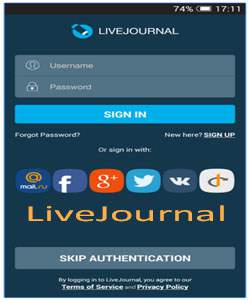 aplikasi livejournal android