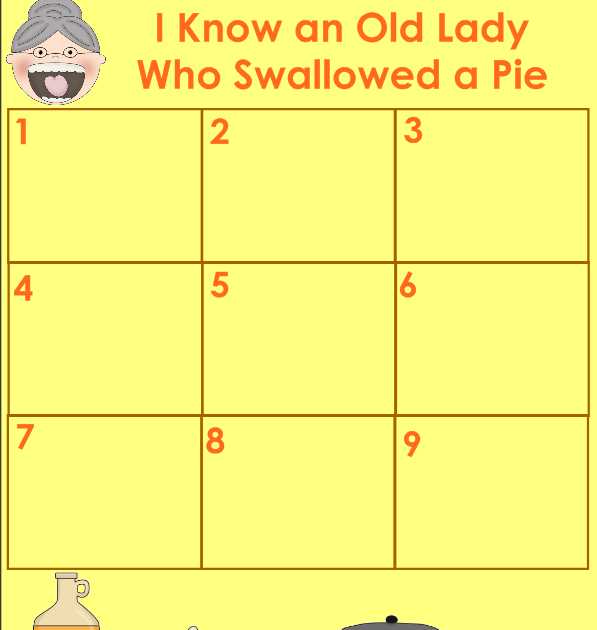 Aloha Kindergarten!: I Know An Old Lady Who Swallowed A Pie
