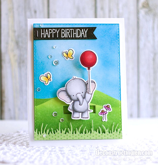 Birdie Brown Adorable Elephants stamp set and Die-namics - Jen Shults #mftstamps