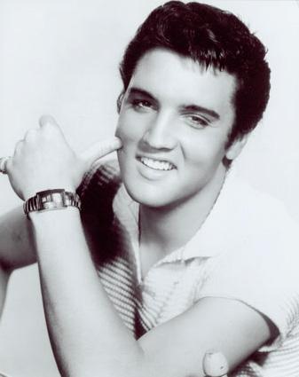 Foto de Elvis Presley en sesión de foto